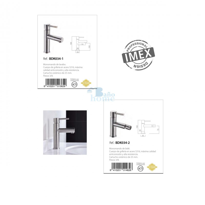 GRIFO BID/É SERIE MOSC/Ú BDK034-2 m/áxima calidad anticorrosi/ón y alta resistencia